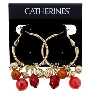 3/$20 Catherines Fall colored gold charm earrings